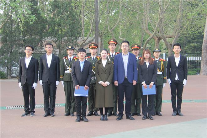 """资源与环境学院""""青春志•中国梦""""升国旗仪式顺利举行"""